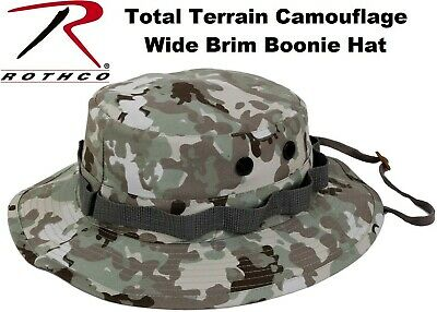 Total Terrain Camouflage Wide Brim Military Tactical Bucket Hat Boonie Hat 55839