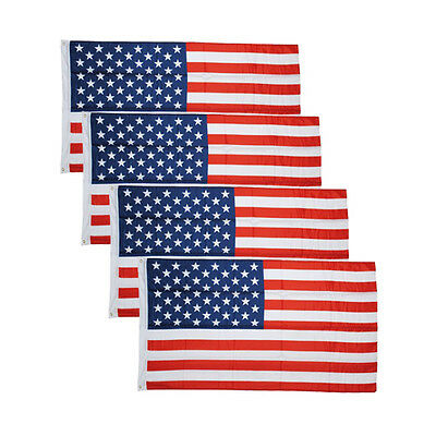 Lot 4 American Flag USA US U.S Stars & Stripes United States Grommets 3x5' ft