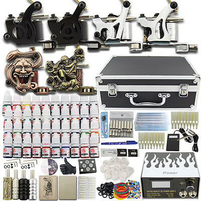Complet Tattoo Kit de Tatouage Gun 6 Machines à Tatouer 40 Encre Power Valise 04