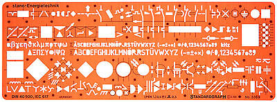 Electrical Electronic Schematic Diagram Symbols Symbol Drawing Template Stencil