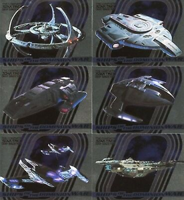 Star Trek DS9 Complete Ships of Dominion War 9 Card Set