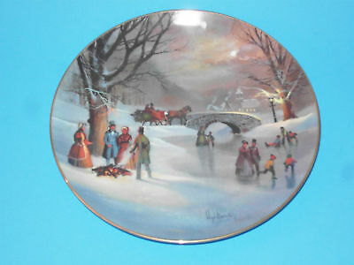 (#51) Collectors plate holiday skaters garrison