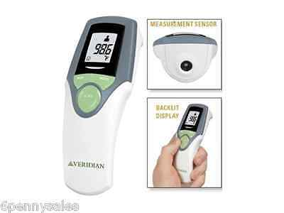 VERIDIAN Infrared Forehead Thermometer Touch-Free No Contact Non Invasive 2 Mode
