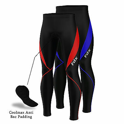 FDX Mens Cycling Tights Winter Thermal Cold Wear Padded Legging Cycling Trouser