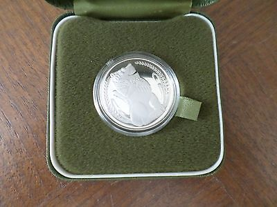 SINGAPORE $ 1.00 STERLING SILVER PROOF 1976 mint sealed in original case rare
