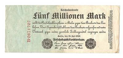 1923 Germany Weimar Republic 5.000.000 / 5 million mark banknote