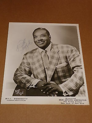 Bill Doggett 10 x 8 US 1959 Agency Publicity Photo (Signed)