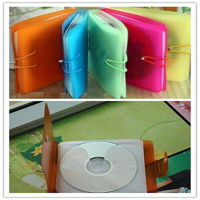 12 Plastic CD DVD Disc Double Sleeve Holder Pack Clear Storage Case Bag Cover