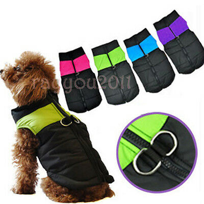 Warm Dog Winter Clothes Waterproof Coat Padded Vest Jacket for Small Medium Dogs