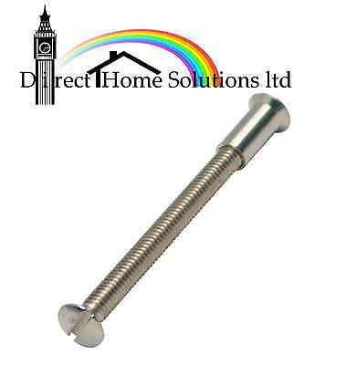 10 x M4 SCREW CONNECTING BOLTS SLEEVS FOR DOOR HANDLE ROSES AND ESCUTCHEONS 45mm