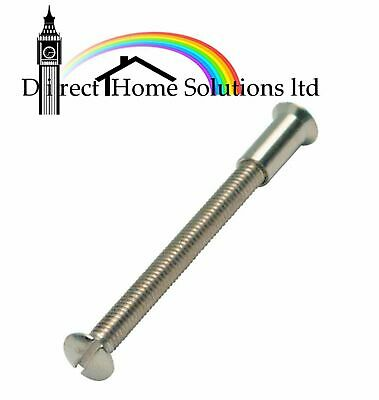 10 x M4 SCREW CONNECTING BOLTS SLEEVS FOR DOOR HANDLE ROSES AND ESCUTCHEONS 50mm