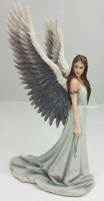 "*** 9 1/2"" ANNE STOKES ""SPIRIT GUIDE"" Guadian Angel Fairy Decor Statue Sculpture"