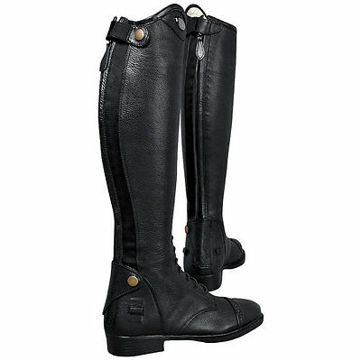 84069a92d1f25 BLACK LEATHER Tuffrider Ladies Belmont Back Zip Field Boot New In Box