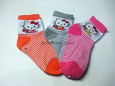 Baby Toddler Hello Kitty Cute & Funny Socks Pink Orange Gray Size 12Cm / 4.7""