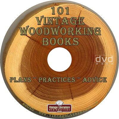 101 Vintage { How-to ~ Plans and Projects } Woodworking Books on DVD