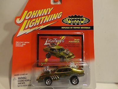 Johnny Lightning The Lost Toppers Gold Chrome Mad Maverick