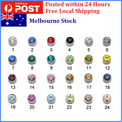 Unisex Magnetic Rhinestone NO Piercing Clip On Stud Earrings