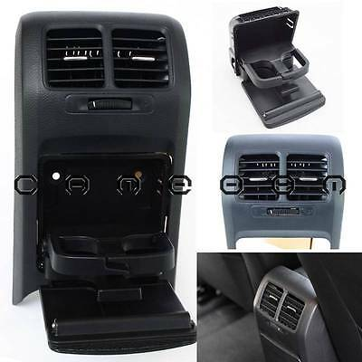 For Volkswagen Jetta Mk5 08 Black Console Center Folding Cup Holder AC Vent Set