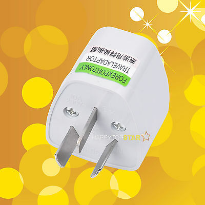 Universal UK/US/EU/RU to China Australia New Zealand Travel Power Adapter Plug