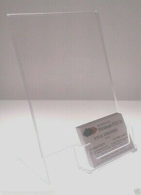 Acrylic Menu Holders Sign & Poster Display With Business Card Holder A6 A5 A4 Dl