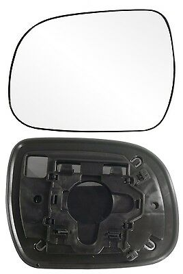 2010-2013 Toyota Highlander Driver Side Power Manual Mirror Glass w/Backing New