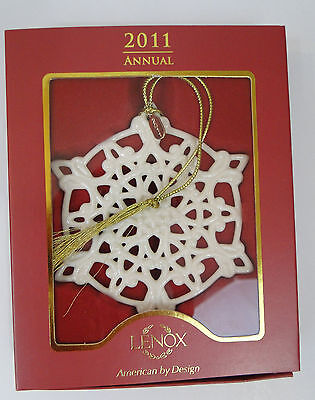 Lenox 2011 Annual Snow Fantasies Snowflake Ornament Mint In Box