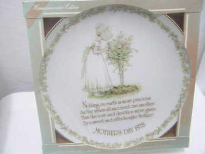 Vintage Holly Hobbie  Mother's Day 1978 Commemorative Plate