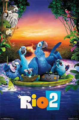 20th CENTURY FOX RIO 2 ONE SHEET MOVIE POSTER PRINT NEW 22x34 FAST FREE SHIPPING
