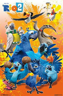 20th CENTURY FOX RIO 2  MOVIE GROUP POSTER PRINT NEW 22x34 FAST FREE SHIPPING