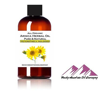 100% PURE ORGANIC ARNICA MONTANA HERBAL OIL COLD PRESSED 2 4 8 oz