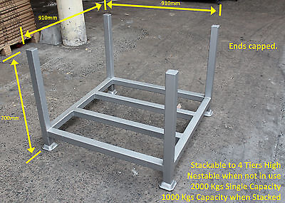 4 x Stillages - Powder Coated - Stack Up to 4 High - Nestable when not in use.