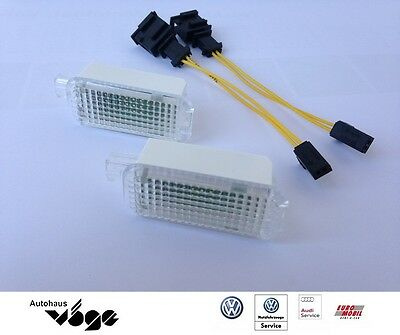 Original VW LED-Fußraumbeleuchtung inkl. Adapterkabel / dimmbar/ Go 5/6 /Polo 6R