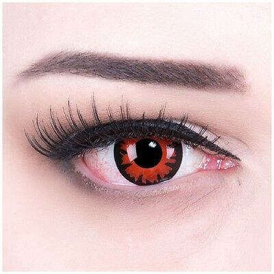 """Coloured Contact Lenses Bella red """"Volturi"""" Contacts Carnival + Free Case"""