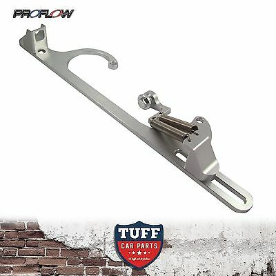 Proflow Billet Silver Throttle Cable Return Spring Bracket Holley 4500 Carby