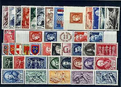 France Annee Complete 1949 Neuf ** Sans Charniere Cote 177€