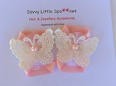 Cute Pink Baby / Infant Butterfly Barefoot Sandals *new*