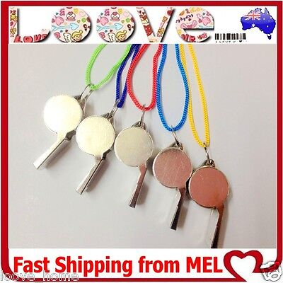 1x Metal Sports Whistle Referee Indoor Outdoor Match Camping Emergency Umpire