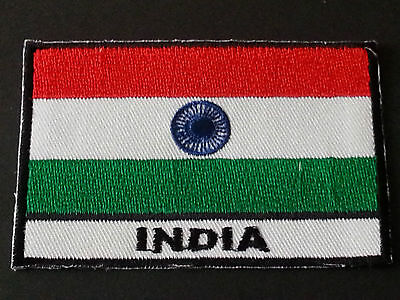 National World Country Embroidered Flag Sew/iron On Patch:- India