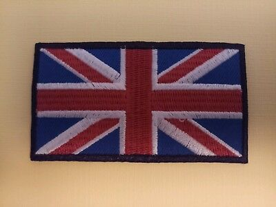 NATIONAL WORLD COUNTRY EMBROIDERED FLAG SEW/IRON ON PATCH:- GREAT BRITAIN (a)