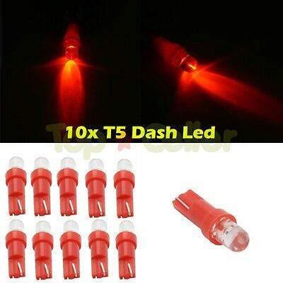 10x Red Instrument Cluster Panel Dash LED Bulb Light Lamp 74 70 37