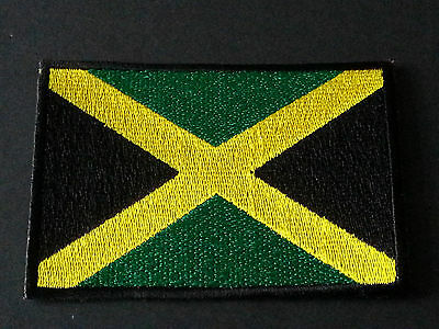 National World Country Embroidered Flag Sew/iron On Patch:- Jamaica