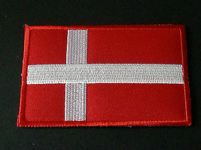 NATIONAL WORLD COUNTRY EMBROIDERED FLAG SEW/IRON ON PATCH:- DENMARK ( a )