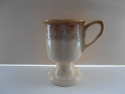 FOSTERS POTTERY LIGHT HONEY COMBE IRISH COFFEE GOBLET