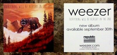 WEEZER Everything Will Be Alright In The End 2014 Sticker +FREE Rock Stickers