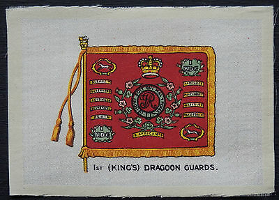 1st Kings DRAGOON GUARDS Regimental Colours issued in 1915 Anon Silk