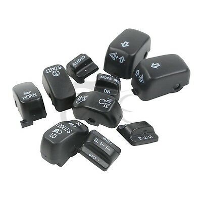 Hand Control Switch Housing Buttons Caps Fit For Harley Touring Road Glide 96-13
