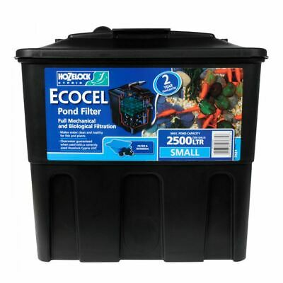 Hozelock Ecocel 2500 Fish Pond Filter System With Media Black Box Gravity