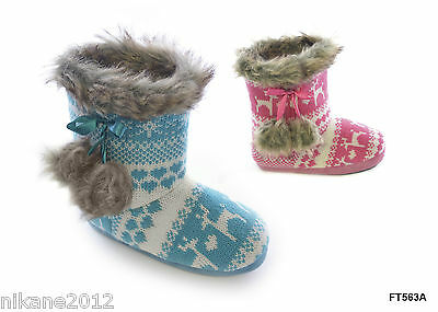 girls slipper boots sizes 11/12 13/1 2/3 9/10 boys cool  childrens free post ers