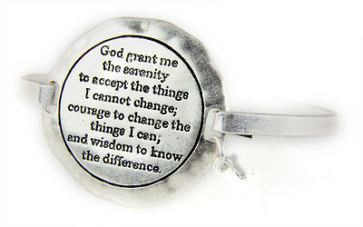 SERENITY PRAYER BRACELET Courage Wisdom Cross Stretch Faith