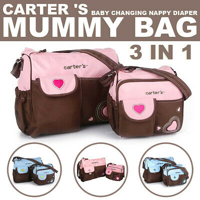 3 in 1 Carter's Baby Changing Nappy Diaper Mummy Bag Handbag 2 Colour